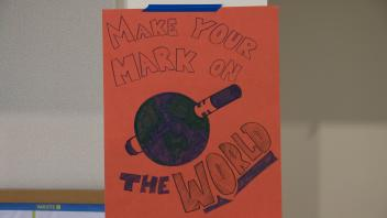 make your mark on the world poster